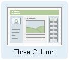 Three Column Mixed Media Layout