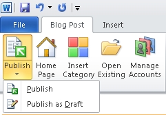 Microsoft Word Publish