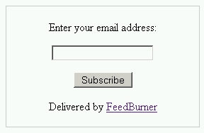 FeedBurner Subscription Form