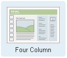Four Column Mixed Media Layout